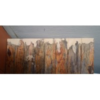 Repaired Wooden Door